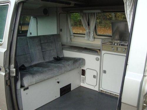 Silver Vanagon Inside